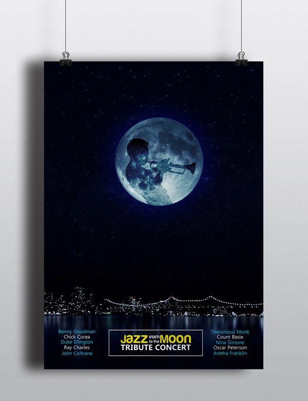 Jazz Music Poster by Willians Prado, via Behance