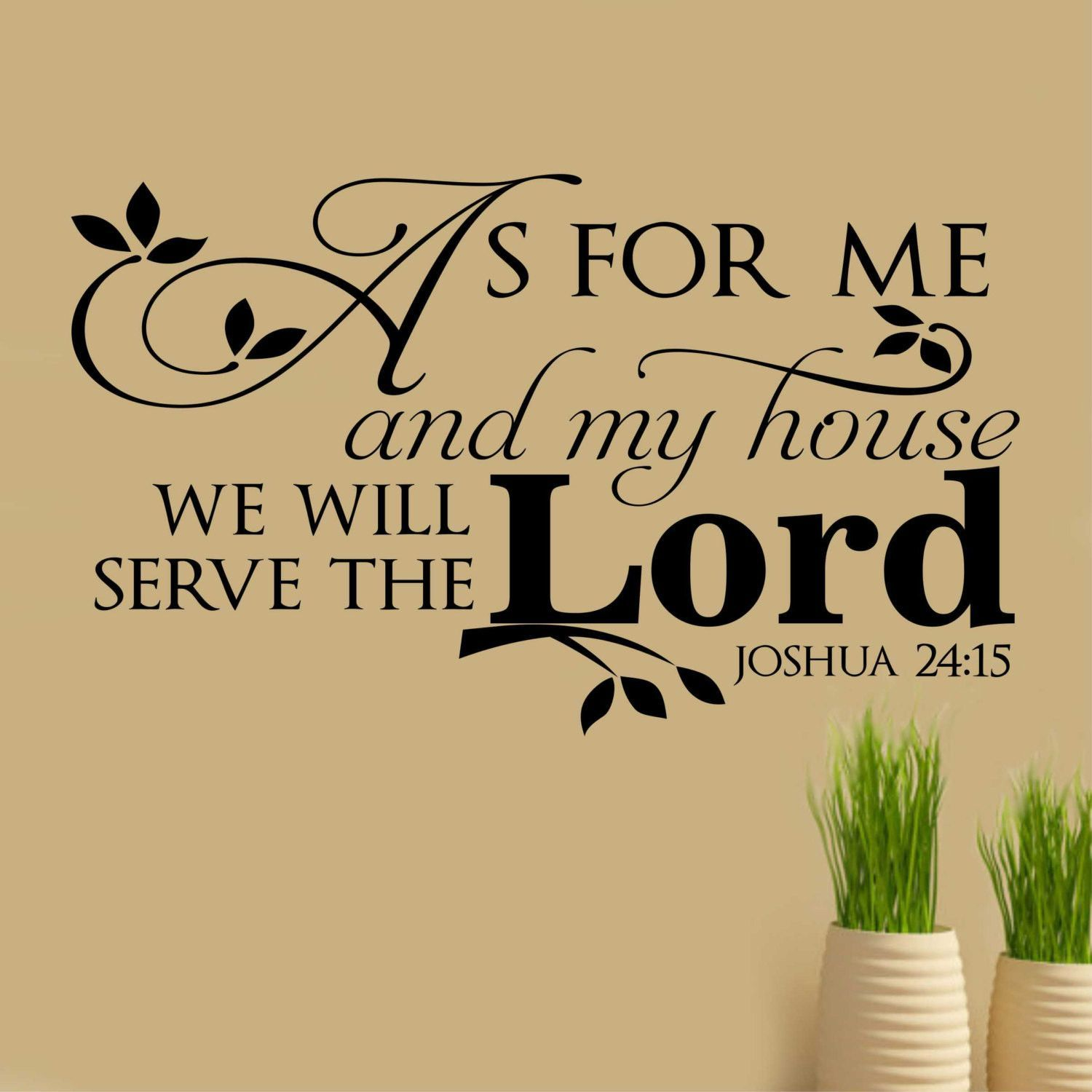 Serve Lord Horizontal Decal | Vinyl Wall Lettering | Religious Decal ...