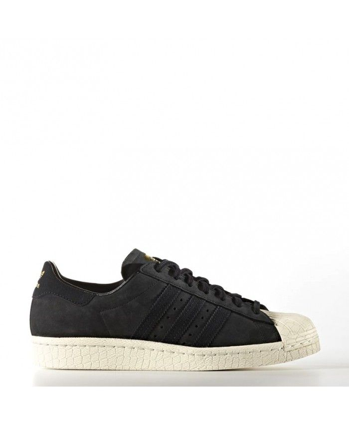 photos officielles f8367 af91c Adidas Femme Superstar 80s Core noir / noir / Legacy Blanc ...