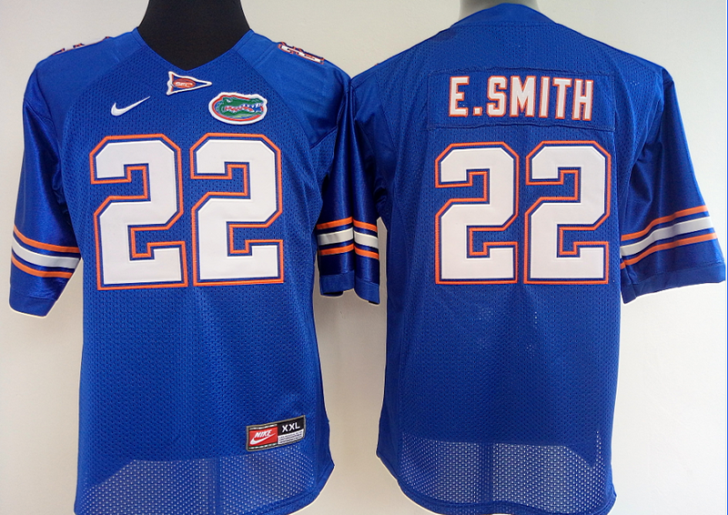 quality design 9abf2 569ba Womens Florida Gators #22 Emmitt Smith Blue jersey | NCAA ...