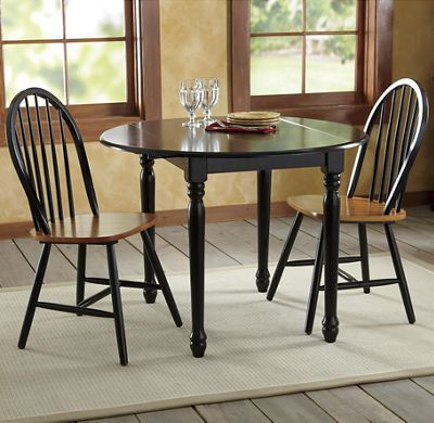 Farmhouse Drop-Leaf Table  Arrowback Chairs Small DINING Room