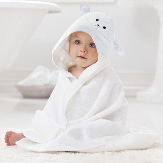 Organic Bamboo Baby Hooded Towel By Lucylla Ultra Soft Super