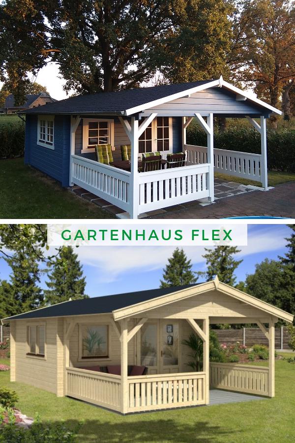 Gartenhaus Modell Flex 50B mit 300cm Terrasse Das extra