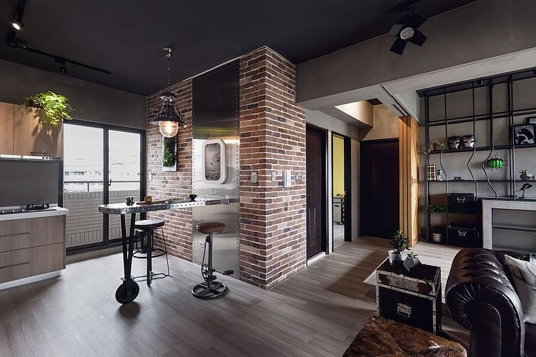 Hong S House By House Design Studio Industrial Apartment Decor