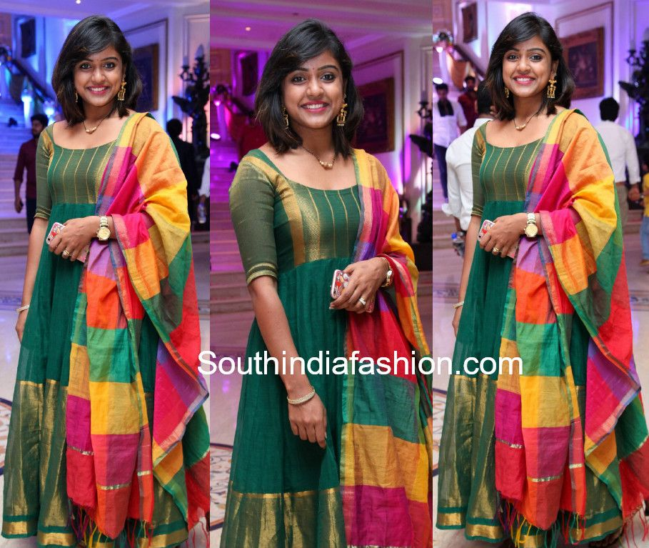 548c5fe4c9 Vithika Sheru in a green anarkali Diwali Fashion, India Fashion, Long Gown  Pattern,