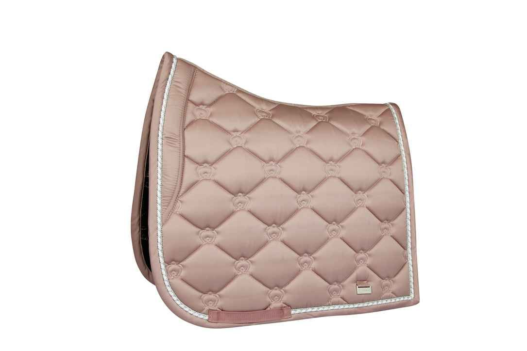 Saddle Pad Monogram Pale Pink Dressage