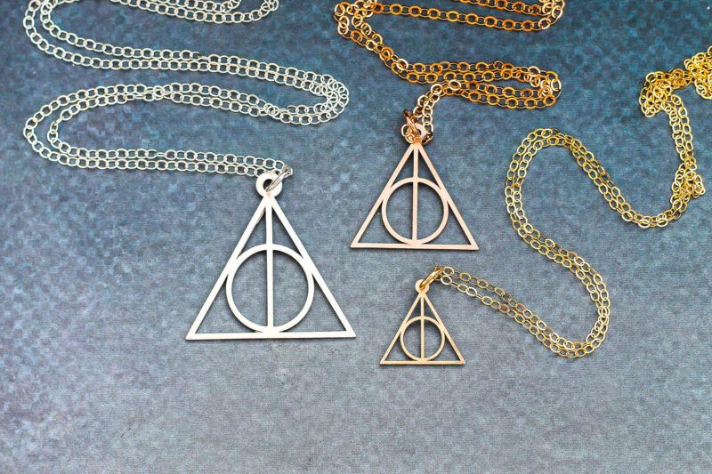 Deathly hallows necklace harry potter jewelry harry