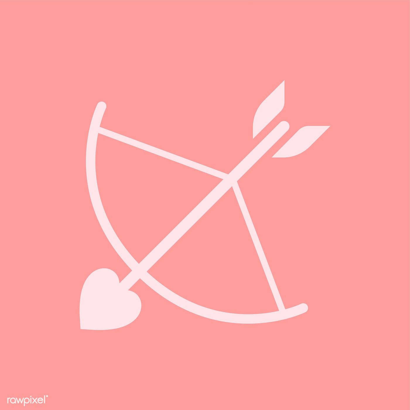 Bow And Arrow Cupid Icon Free Image By Rawpixel Com Manotang Arrows Graphic Archery Logo Cupid