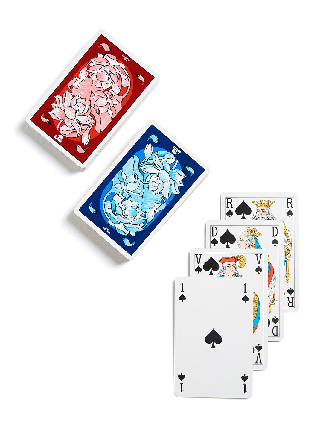 For Lotus Double Set of Playing Cards (Set of 2) by Hermès at Gilt