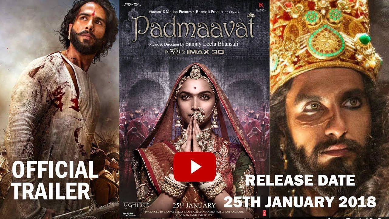 Padmavat Padmavati Official Trailer Ranveer Singh Deepika Shahid Ka