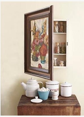 Awesome Medicine Cabinet Redo   CUTE! Could Decorate In A Kids Room For Hair  Brushes And