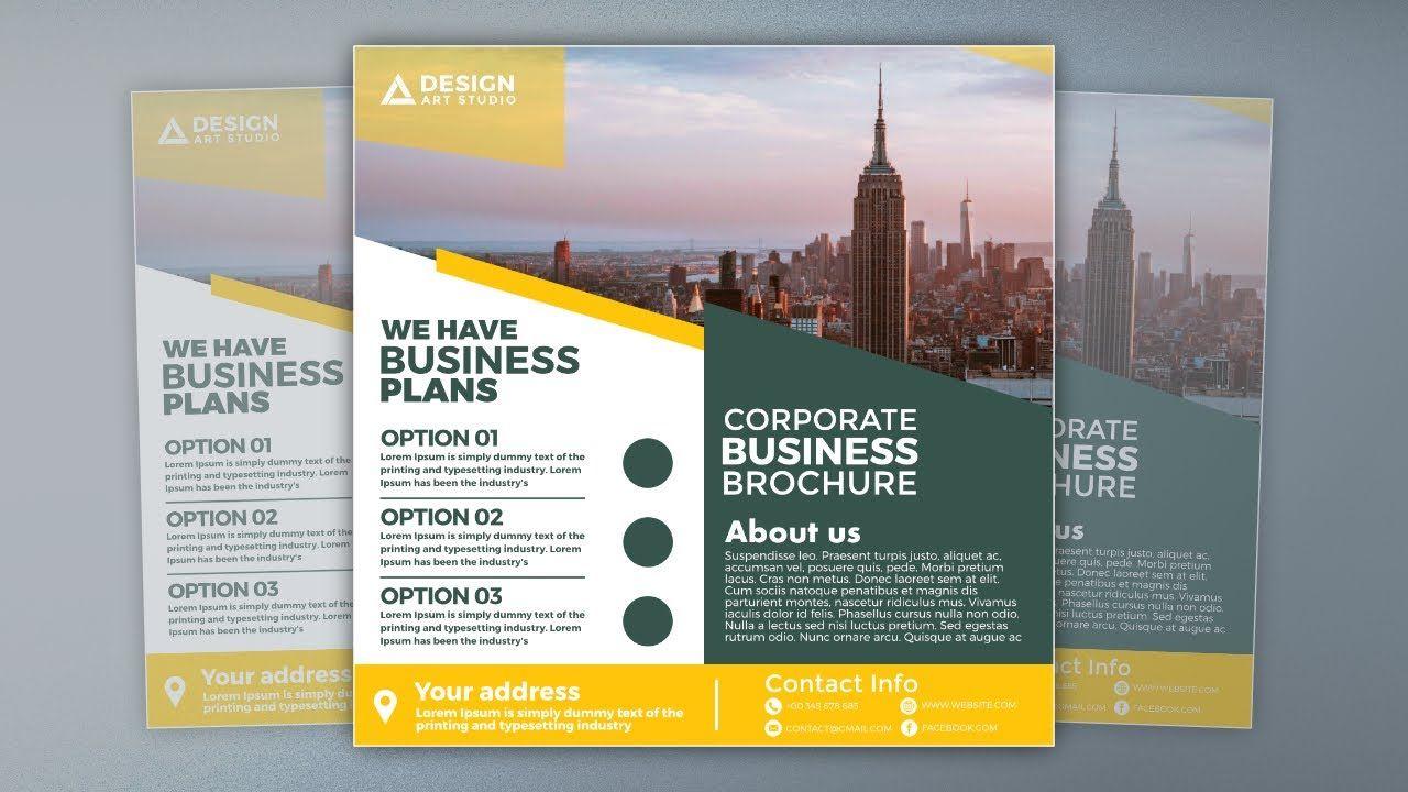Square Business Brochure Design in Affinity Designer