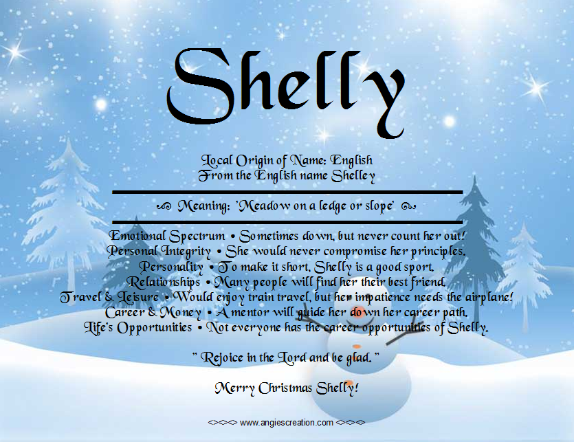 Image result for name meaning shelly   Names with meaning ...