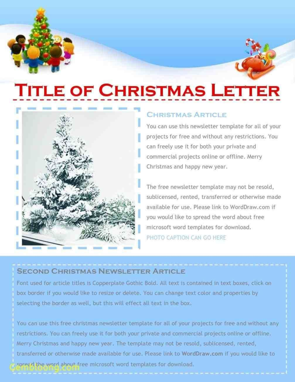 Free Christmas Newsletter Templates Xmast Decors