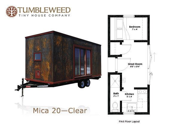 elm 18 overlook 117 sq ft tumbleweed tiny home on wheels tiny