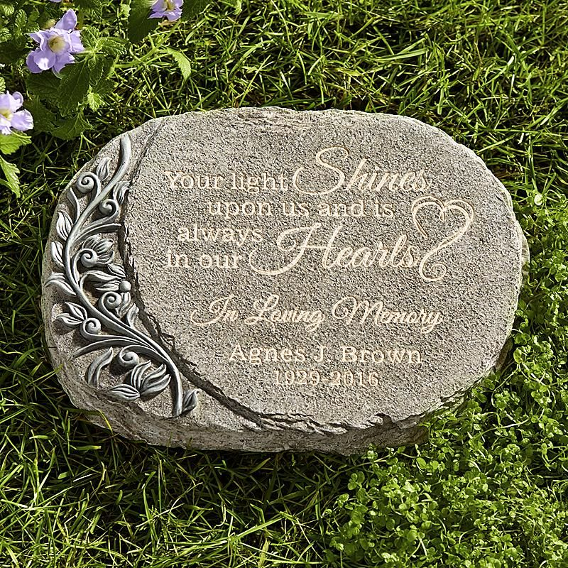 Your Light Shines Memorial Garden Stone | GRIEF ...