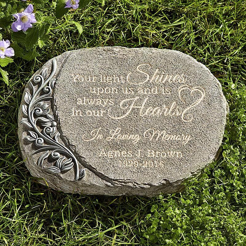 Light Shines Memorial Garden Stone Grief Losing