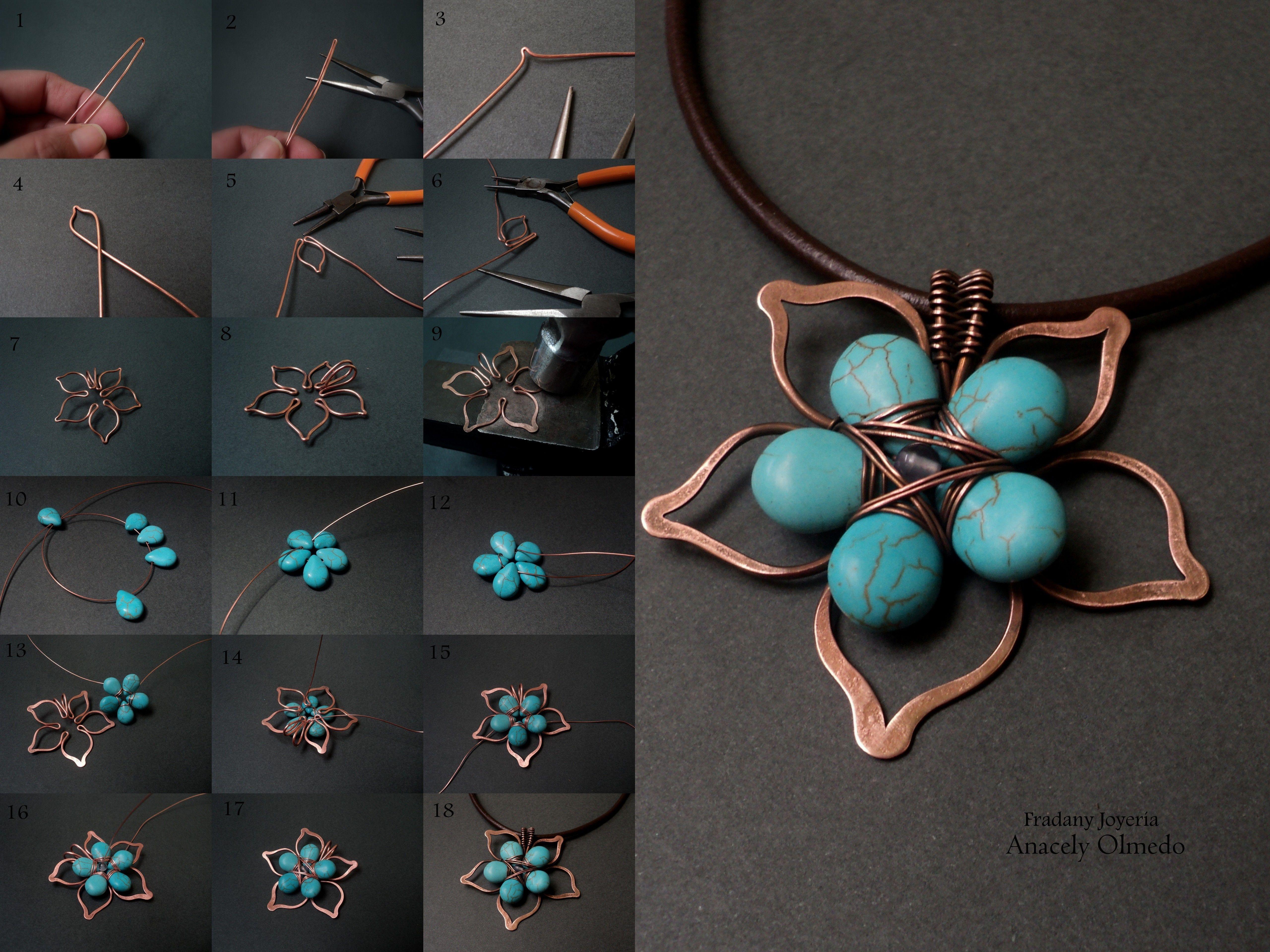 Tutorial: Flor de Piedras y Alambre con base | Tutorials ...