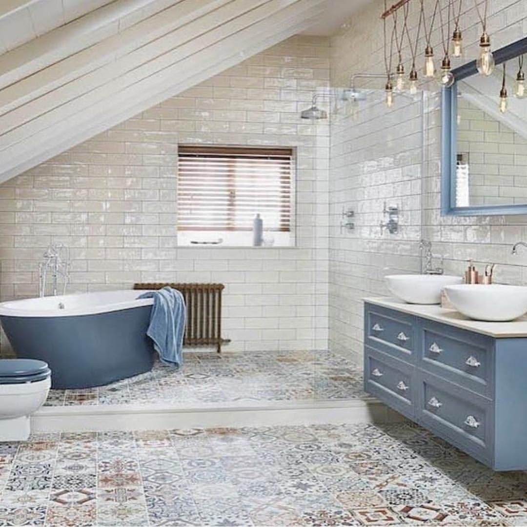 Elle Decoration Uk It S All Happening Here Beautiful Blue Terrific Tiles Space A Specta Bathroom Interior Design Bathroom Interior Light Blue Bathroom Bathroom design ideas uk