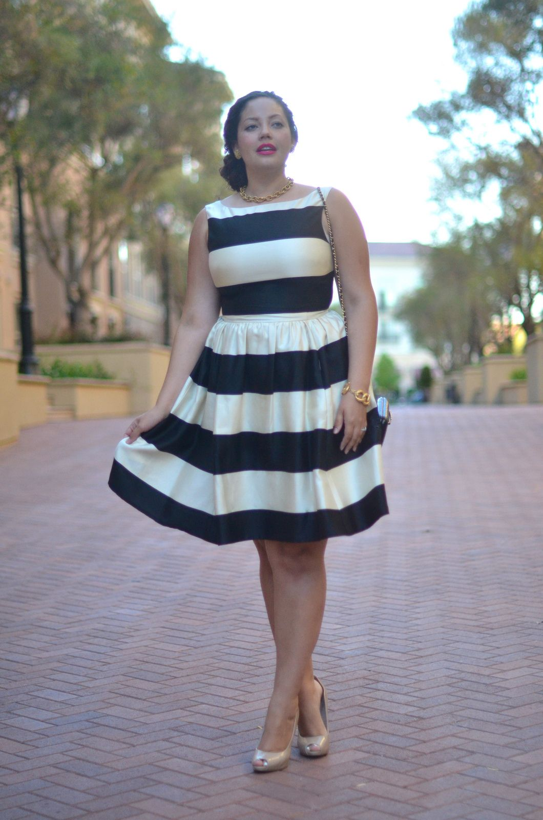 Girl With Curves: Fancy Stripes