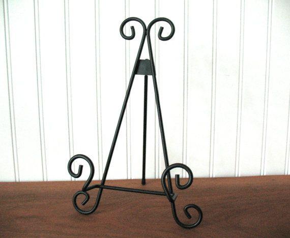 11 BLACK METAL EASEL Wire Tabletop Wedding Display by SykesStudios & 6\