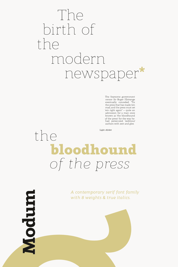 Modum Serif Font Family from The Northern Block Ltd