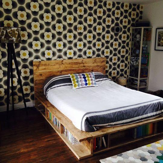 Vintage Industrial Wooden Bed HANDMADE UK by DesignShack1980