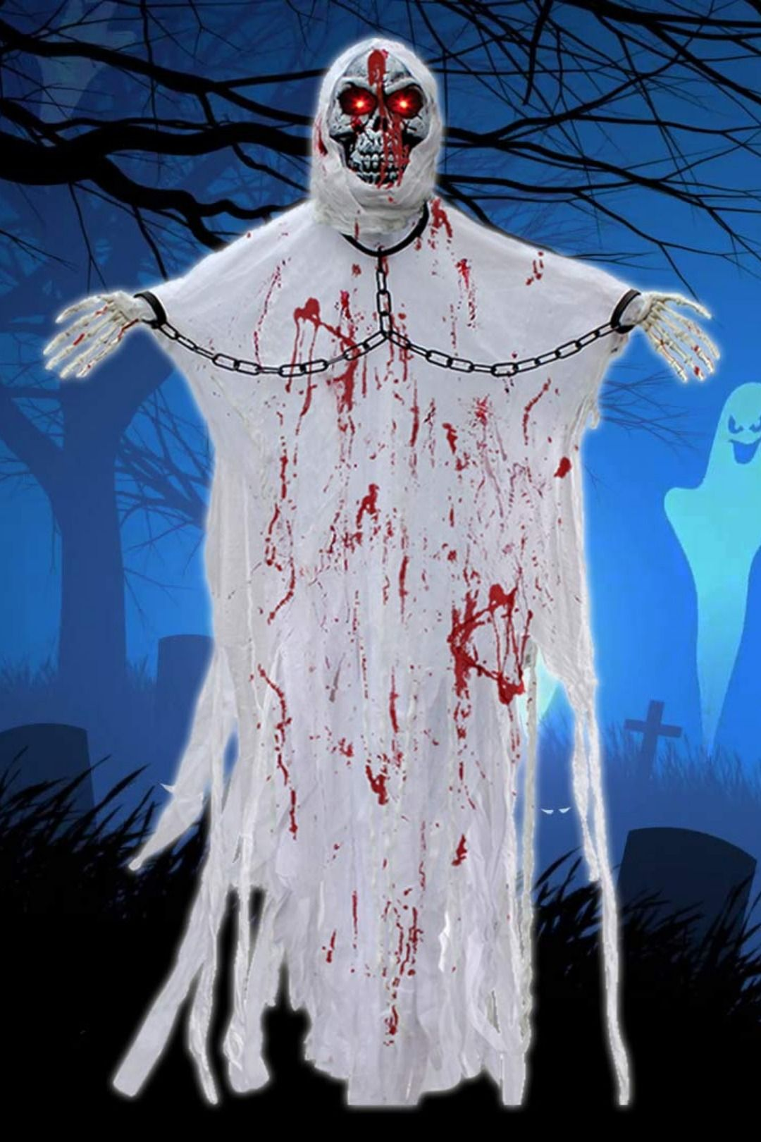 Halloween Hanging Ghost Decorations 5 24ft Scary Skeleton Flying