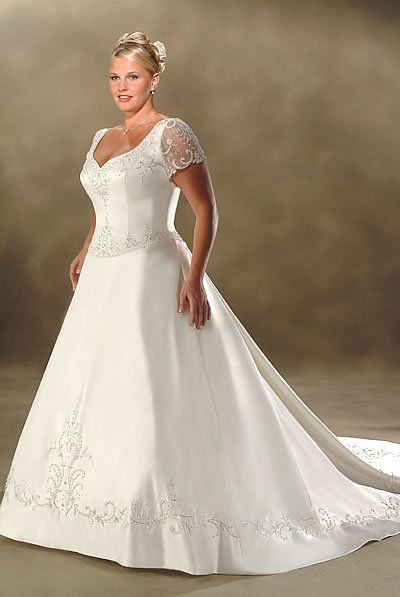 Sexy Wedding Dresses For Petite Plus Size