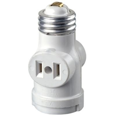 Leviton Socket With Outlets White R52 01403 00w Light Bulb