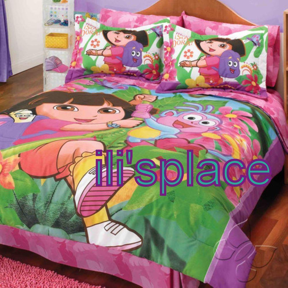 Twin Full Girls Nickelodeon Dora The Explorer Comforter
