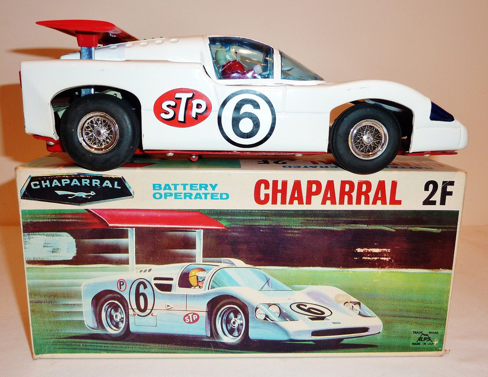 Alps chaparral race car battery operated toy from 60s ebay