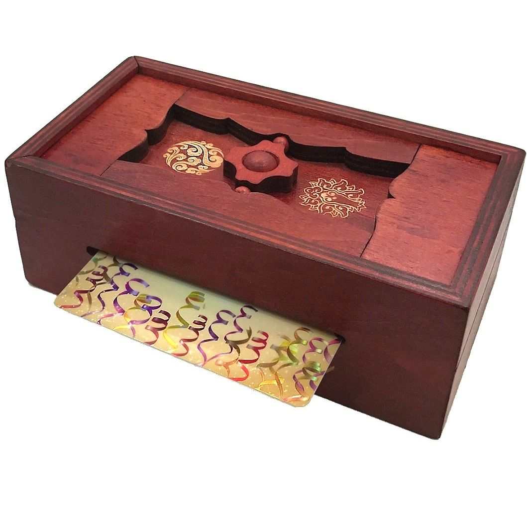 Good luck secret puzzle box money and gift cards trick