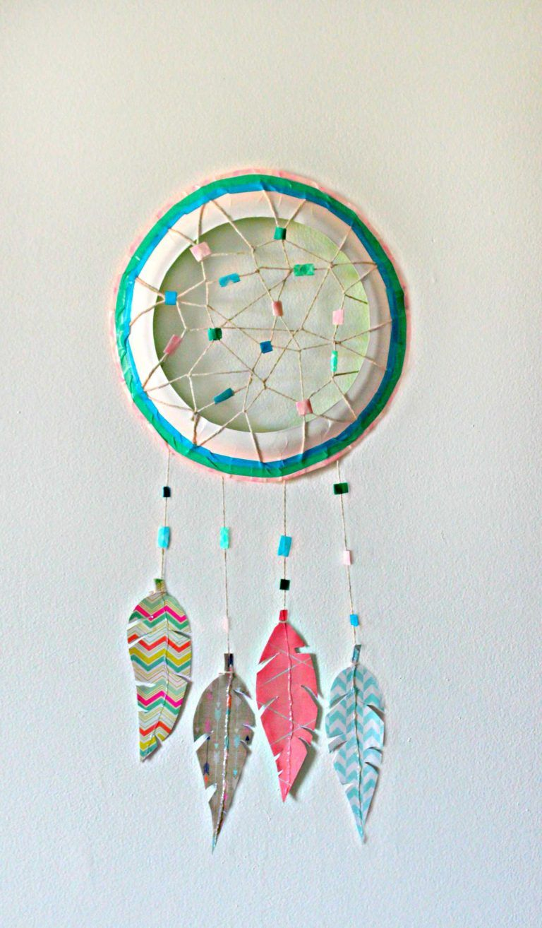 Paper Plate Dream Catcher Dream catcher craft, Dream