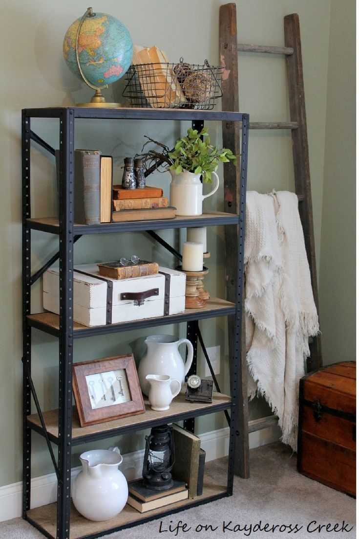 How to create a Pottery Barn style industrial shelf form a $5 garage ...