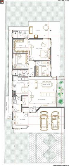 Casa   3 Quartos   170.51m² | Dream House | Pinterest | Quartos And House