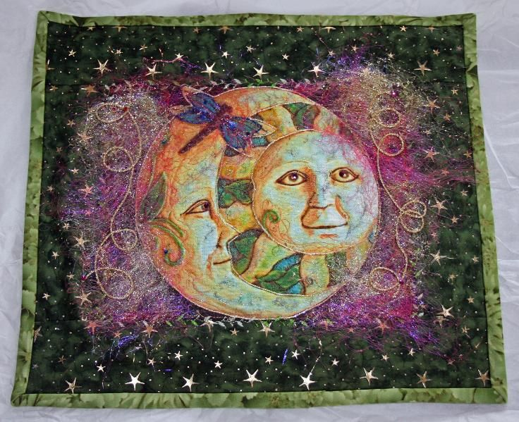 Sun Moon Quilted Wallhanging Very Artistic And Very