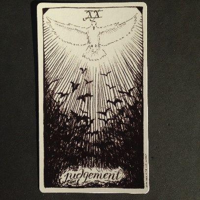 Judgement Wild Unknown Tarot card meanings and description: http://happyfishtarot.com/blog/judgement-wild-unknown-tarot/