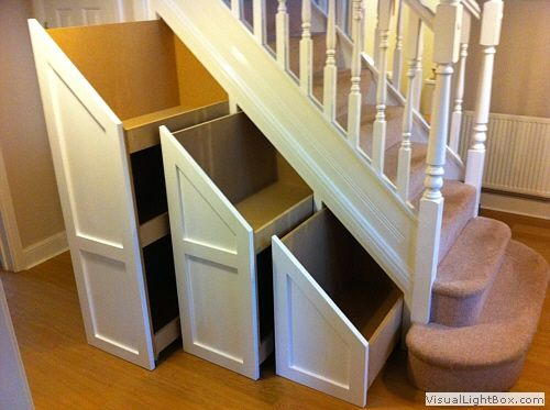 storage | Under stairs cupboard, Staircase storage, Stair storage