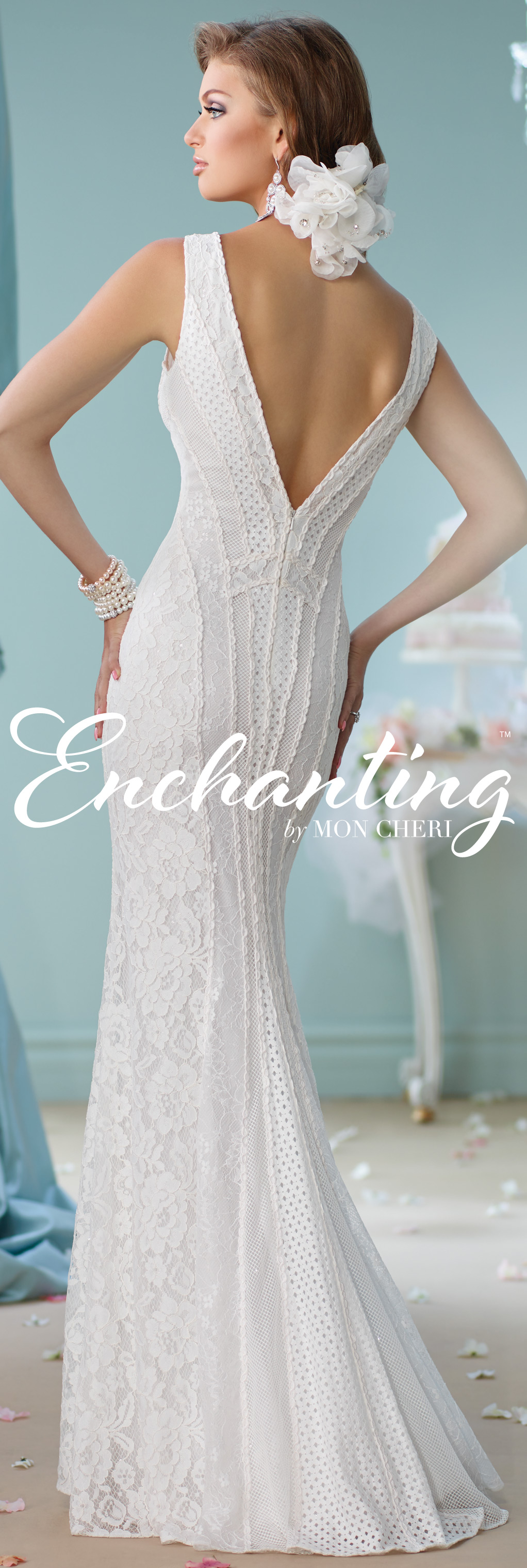 Modern wedding dresses by mon cheri enchanted wedding dress