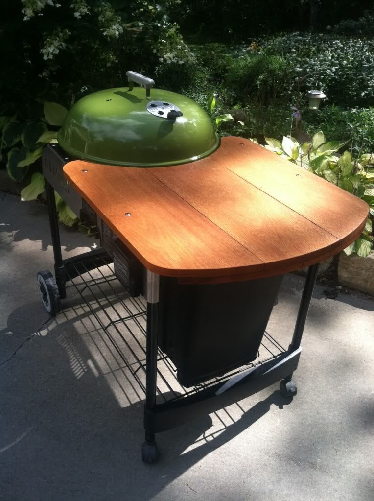 Tyual Table Plans For Weber Kettle Backyard Ideas All