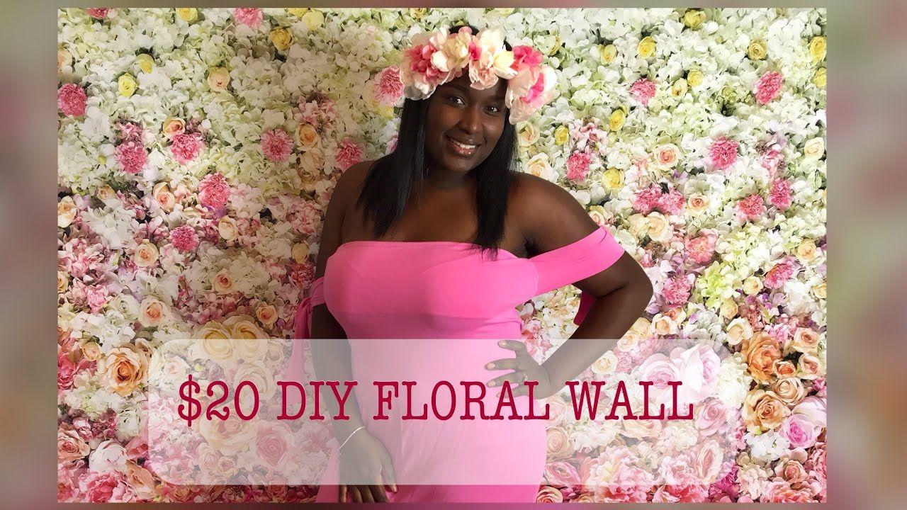 Diy 20 flower wall backdrop youtube flower wall