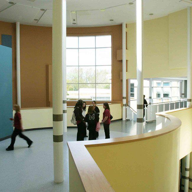Hall Area Isca Academy Devon England School Interior Design Education Space Learning