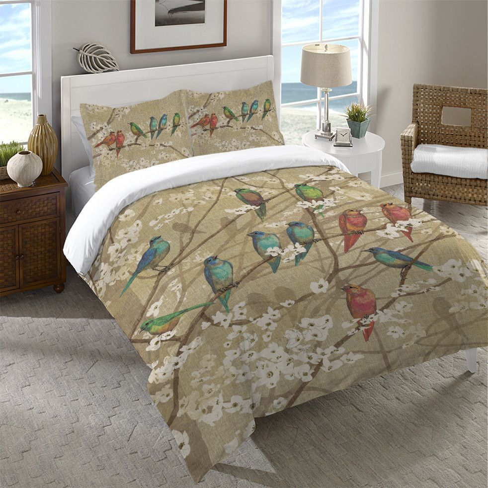 sophia white duvet and cover lifestyle bird green new buddenhagen products