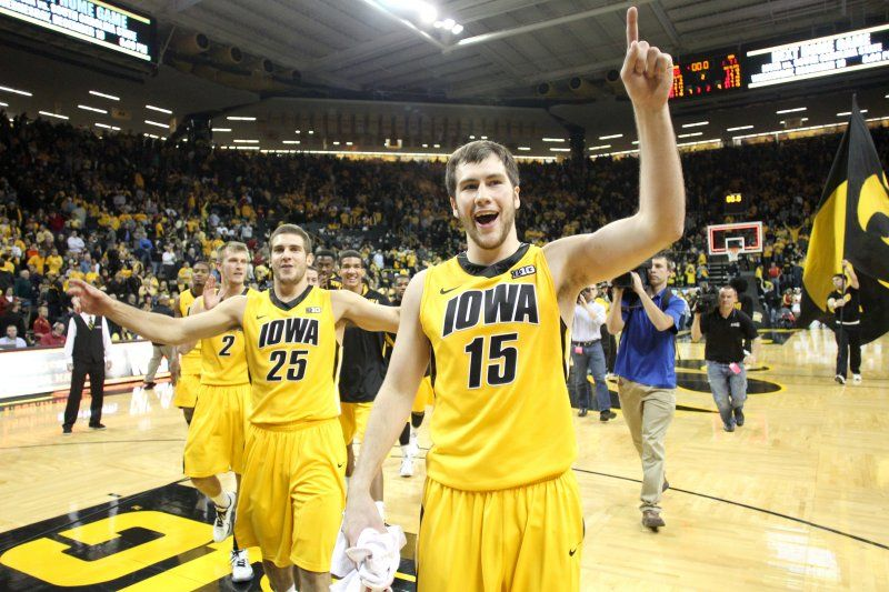 Iowa S Zach Mccabe Right And Eric May 25 Celebrate After The