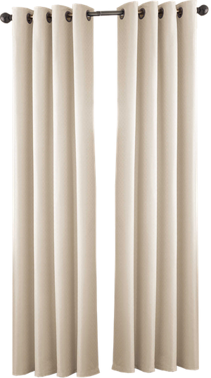 Valeron Stradivari 108 Inch Room Darkening Window Curtain Panel In Eggshell