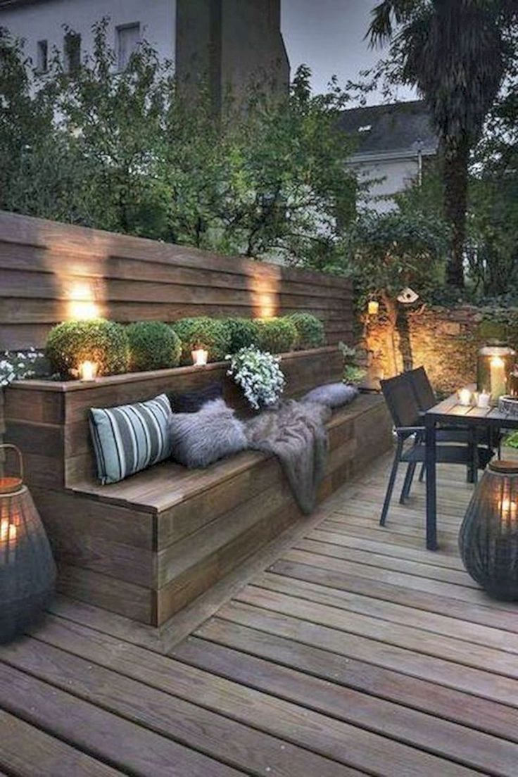 15 moderne Terrasse Deck Ideen für Hinterhof-Design und Dekoration Ideen #backyardpatiodesigns