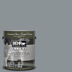 Behr Ultra 1 Gal Home Decorators Collection Hdc Nt 27 Millennium Silver Extra Durable Semi Gloss Enamel Interior Paint Primer 375401 The Home Depot Behr Premium Plus Ultra Interior Paint Behr Ultra