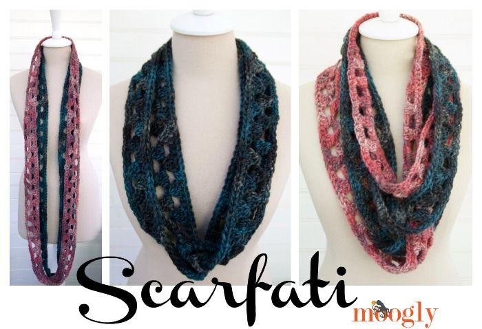 Scarfati - patrón #crochet libre en Moogly! | blusas, bufandas y mas ...
