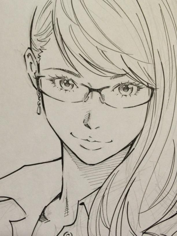 Beautiful realistic manga style